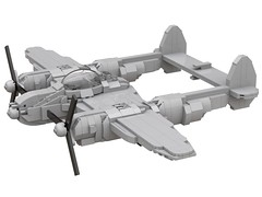 P-38 Lightning prototype (dreki.bryni) Tags: wwii moc afol military lego aircraft fighter