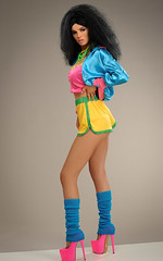 1980s model Iona (Michael Struts) Tags: 80s big hair 1980 1980s heels learners flickrsbest legs shorts