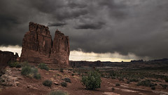 The Organ (onefivefour) Tags: organ arches national park archesnationalpark rock storm clouds dark butte