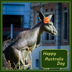 26th January (Robert E C) Tags: perth statue sculpture kangaroo