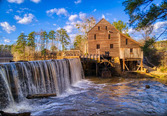 Yates Mill Country Park, Raleigh, NC (Sergey Galyonkin) Tags: park mill yates raleigh nc waterfall water winter evening hdr leica q2 merge slow bright color old ancient restored history landmark usa america restoration northcarolina