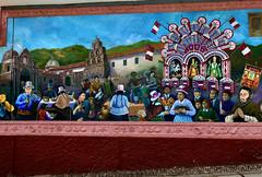Mural on the Outside Wall of Cementerio General de Almudena