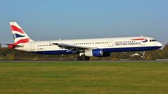G-MEDL (AnDyMHoLdEn) Tags: britishairways a321 oneworld egcc airport manchester manchesterairport 05r