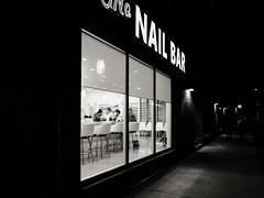 The Nail Bar (Web-Betty) Tags: rino bnw denver colorado night blackandwhite