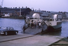 Cowes  FLOATING BRIDGE COWES TO  E COWES Aug 69 (Barrytaxi) Tags: iow ryde sea holiday view landscape transport trains ships church