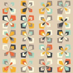 Midcentury geometric retro pattern, vintage colors (khaleeristormborn) Tags: retro vintage floral mod midcentury pattern seamless leaf petal background turquoise scandinavian geometric minimal minimalism vector design texture wallpaper illustration 60s 70s 50s tiffanyblue fabric brown ivory orange teal yellow flower pastel abstract wrappingpaper 1960s 1970s paper fashion decor repeating print shape textile home geometry colorful multicolor