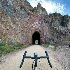 ... (Kris Kumar) Tags: hooverdam historicrailroadtrail iphone11 cycle specialized cycling trail tunnel railroad boulder nevada 2020 january bikeride