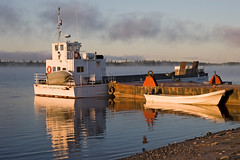 s_OO0P4659 (Paul Lantz) Tags: fog dawn manitouii canoe moosonee mooseriver