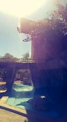 Glaring Into Taliesin (jrpopfan) Tags: scottsdale summer exploreeverthing traveling desert travel statue exploration iphone architecture taliesinwest wanderlust franklloydwright summersun arizona