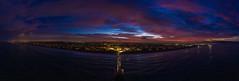 Hermosa Beach sunrise panoramic (Jason Colone) Tags: hermosa beach dji mavic 2 pro sunrise panoramic