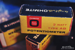 Be Right With Ohmite (Hi-Fi Fotos) Tags: vintage voltage electronics electric ohmite potentiometer box packaging old junktype cardboard measuring tool instrument nikkor 40mm micro macro 28 nikon d7200 dx hififotos hallewell