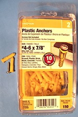 Plastic anchors- back of package (enigma force) Tags: mego vintage 12 inch figure knee repair