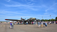 "Collings Foundation's Boeing B-17G Flying Fortress ""Nine O Nine"" (N93012) on static display at KRDU on 10/21/2017 at 3:05 pm. (NighthawkCP) Tags: boeingb17flyingfortress collingsfoundation krdu n93012 nineonine rdu raleigh raleighdurhaminternational planespotting"