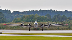 "Collings Foundation's Boeing B-17G Flying Fortress ""Nine O Nine"" (N93012) arrrives KRDU Rwy 5L on 10/21/2017 at 5:33 pm. (NighthawkCP) Tags: boeingb17flyingfortress collingsfoundation krdu n93012 nineonine rdu raleigh raleighdurhaminternational planespotting"