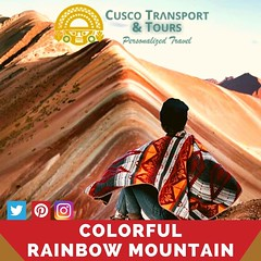 """The Rainbow Mountain, also known as the Vinicunca is a undiscovered land full of wildly desert landscapes, snow capped glaciated peaks and herds of alpacas. """"Cusco transport & tour""""offers a  fantastic day tour in a remote landscape experience immersing yo (cuscotransportweb) Tags: landscapes montañadecolores toursofperu vinicunca rainbowmountain hiking cusco perútours andes inca worldwonders andesmountains privatetours tourcusco perú cuscotransport cuscoperú"""