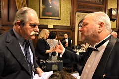 John Schrandt & John McNabb in earnest conversation (photo by Roger Johnson)