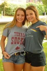 Summer smiles (radargeek) Tags: downtown bricktown 2019 july portrait texassucks tshirt girls girl rainbow