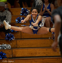 Westover basketball 130 (dhuffman52) Tags: girls cheerleader cheer jump indoors spread tights dress game smiles wild awesome h