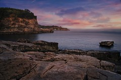 Sorrento sunrise (l.cutolo) Tags: naples zeiss sea sony coldcolours sunset sorrento ndfilter tlp seascape worldtrekker ngc shore landscape scape vignette water rocks longexposure bagnidellareginagiovanna italy flickr sonyalpha sharpen cokin onone2017 clouds a7ii sonyfe2470mmf4zaoss