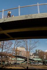 Pedestrain (matthew:D) Tags: blur urban landscape hotel people boston buildings massachusetts unitedstates buildingsbridge cars city