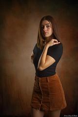 Enchanting (Fly Sandman) Tags: model modelshoot woman girl flash offcameraflash godox ad600 ad200 sony alpha a99 dslr affinityphoto skirt miniskirt dress shortdress studio