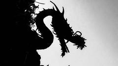 Taliesin Dragon Silhouette (jrpopfan) Tags: scottsdale summer exploreeverthing traveling desert travel statue exploration iphone architecture taliesinwest wanderlust franklloydwright summersun arizona