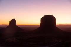 Mitten and Merrick Predawn (Eric Kilby) Tags: monumentvalley mitten merrick butte sunrise dawn
