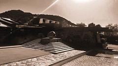 Taliesin Sepia #2 (jrpopfan) Tags: scottsdale summer exploreeverthing traveling desert travel statue exploration iphone architecture taliesinwest wanderlust franklloydwright summersun arizona