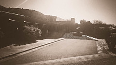 Taliesin Sepia #3 (jrpopfan) Tags: scottsdale summer exploreeverthing traveling desert travel statue exploration iphone architecture taliesinwest wanderlust franklloydwright summersun arizona