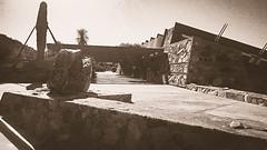 Taliesin Sepia #4 (jrpopfan) Tags: scottsdale summer exploreeverthing traveling desert travel statue exploration iphone architecture taliesinwest wanderlust franklloydwright summersun arizona