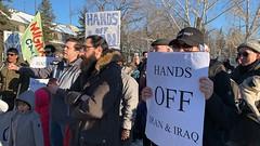 No War On Iran - Global Day of Action - Edmonton (livingsanctuary) Tags: nowaroniran iran peace rally protest edmonton yeg yegactivist politicalphotography