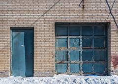 Blue Doors (Yewbert The Omnipotent) Tags: toronto canada lightroom winter urban dilapidated d750 nikon 35mm tamron