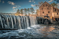 Yates Mill Country Park, Raleigh, NC (Sergey Galyonkin) Tags: mill park yates raleigh nc waterfall water winter evening hdr leica q2 merge slow bright color old ancient restored history landmark usa america restoration northcarolina