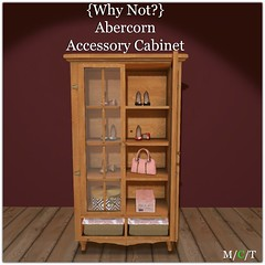 Abercorn Accessory Cabinet ({Why Not ?}) Tags: whynot secondlife mesh furniture shoes closet purse