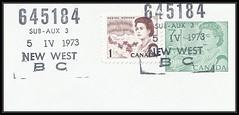British Columbia / B.C. Postal History - 5 April 1973 - NEW WESTMINSTER SUB 3, B.C. (POCON cancel / postmark) (Treasures from the Past) Tags: circulardatestamp postalwayoffice postmaster postoffice britishcolumbia postalhistory bc county splitring brokencircle splitcircle postmark cancel cancellation marking son mail letter stamp canada britishcolumbiapostalhistory canadapost pocon newwestminstersub3bc newwestminster sub3 subno3