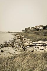 Roadtripping Texas Coastline (jrpopfan) Tags: wideangle rebelt3 coastline texas corpuschristi sepia photography houses beaches photograph rocks