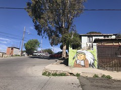 Mural of Indian in Plains headdress in Tijuana (C-Monster) Tags: tijuana mural indian headdress
