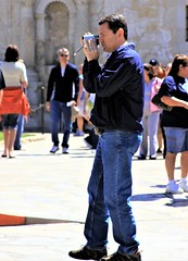 man with camera (miosolee) Tags: outside man male butch guy gentleman men guys dude studly manly dudes handsome profile stud mature older camera masculine people persons photography photographer lonestar