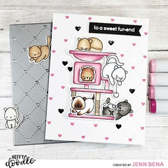 (Video) How to Color Cats Using Purrfect Day with Jenn Bena (HeffyDoodle) Tags: card cardmaking cat cats coloring colouring copic copicmarkers friendship heart heffydoodle howto persian purrfectday quiltedheartbackgrounddie scrapbena sealpoint siamese valentine