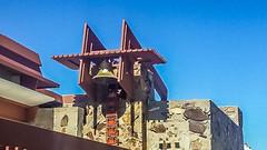 Taliesin West Bell Tower (jrpopfan) Tags: scottsdale summer exploreeverthing traveling desert travel statue exploration iphone architecture taliesinwest wanderlust franklloydwright summersun arizona