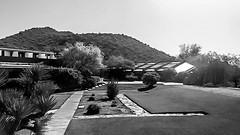 Taliesin West in Black and White (jrpopfan) Tags: scottsdale summer exploreeverthing traveling desert travel statue exploration iphone architecture taliesinwest wanderlust franklloydwright summersun arizona