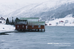 Kvaløya, Norway (Naomi Rahim (thanks for 5 million visits)) Tags: kvaløya tromsø norway europe scandinavia 2020 outdoors nature landscape nikon nikond7200 wanderlust winter snow mountain fjord red cabin rorbuer timber water lake sea architecture historic old vintage