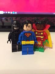 DC's Earth 16 (Numbuh1Nerd) Tags: lego purist custom dc superheroes minifigures multiverse multiversity superman batman sister miracle conner kent konel damian wayne earthme