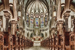A Painterly look at the Inside of the Basilica of Our Lady Immaculate