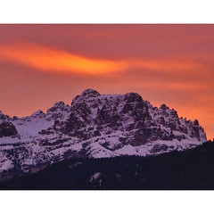 Sunrise in.. (Robyn Hooz) Tags: cadore alba sunrise cielo sky clouds dolomiti neve snow peak rocks dawn veneto