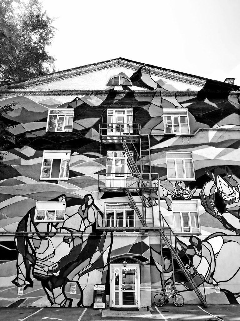 фото: Graffiti with a rhinoceros_
