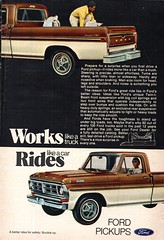 1972 Ford F-Series Pickup Truck USA Original Magazine Advertisement (Darren Marlow) Tags: 1 2 7 9 19 72 1972 f ford s series p pick u up t truck c car cool collectible collectors classic a automobile v vehicle us usa united states american america 70s