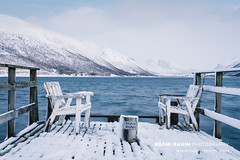 Kvaløya, Norway (Naomi Rahim (thanks for 5 million visits)) Tags: kvaløya tromsø norway europe scandinavia 2020 outdoors nature landscape nikon nikond7200 wanderlust winter snow pier jetty chairs seats view mountain fjord