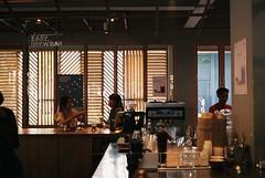 Morning routine in the cafe (Pantongg) Tags: café cafe bangkok streetphotography 35mmfilm filmcamera grainisgood analogphotography canonetql17giii filmisnotdead canonetq17 35mmfilmphotography cafehopping tudorxlx200