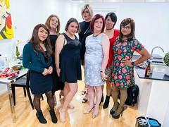 The Gendershake Crew (justplainrachel) Tags: justplainrachel rachel cd tv crossdresser genderquake sydney group portrait evening transgender transvestite makeup dress frock heels instagram